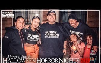 Nick Cannon Mornings Visits Universal's Halloween Horror Nights