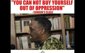 You can't BUY your way out of oppression! #CannonsClass